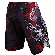Шорты для MMA Venum Pirate 3.0 Fightshorts Black Red, фото 3