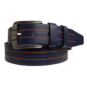 Натуральная кожаный мужской ремень JK Синий (MC451020702)
