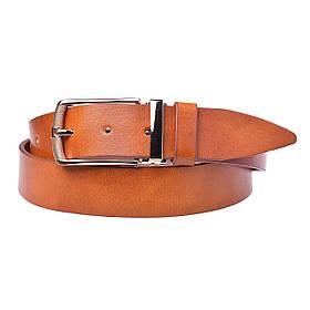 Натуральная кожаный мужской ремень JK Рыжий (MC352060192)