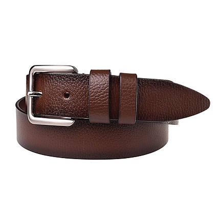 Натуральная кожаный мужской ремень JK Коричневый (MC402036012), фото 2