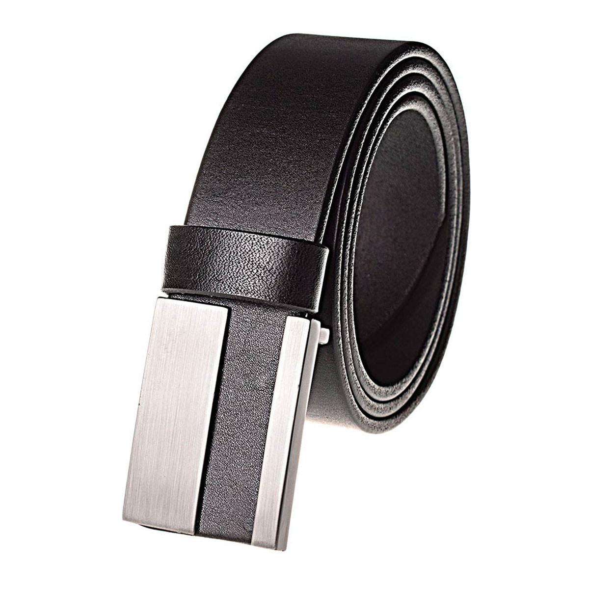 Натуральная кожаный мужской ремень JK Черный (MG402010120)