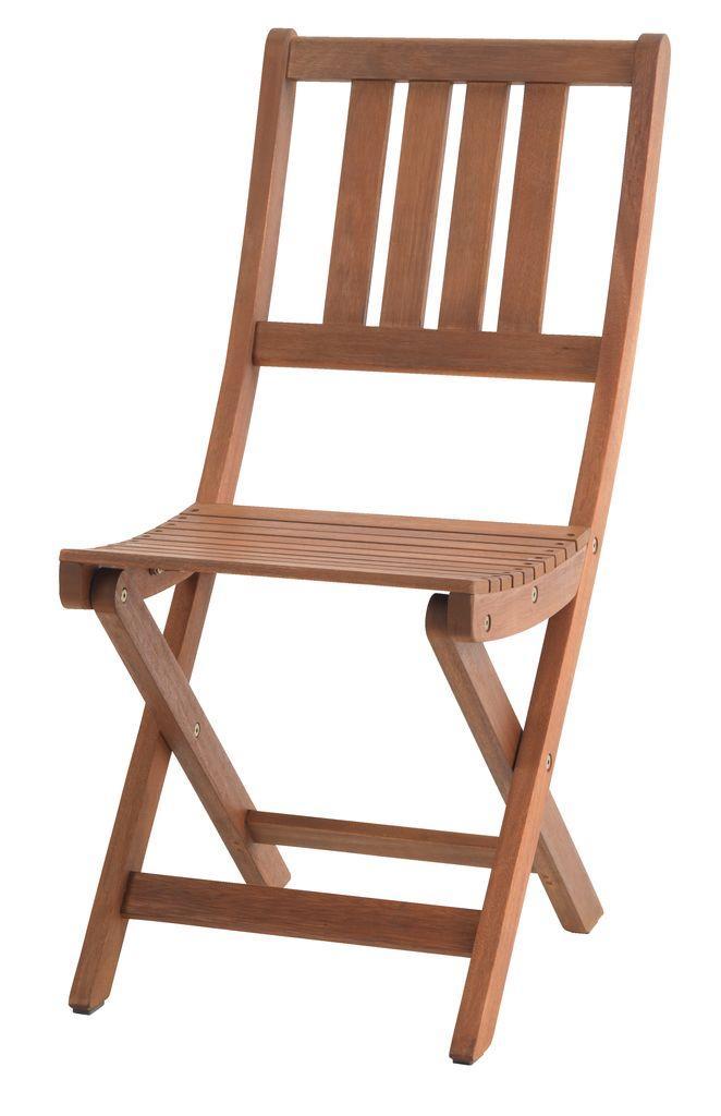 Садовый стул складной из хардвуда  (твердое дерево) 40х55 см