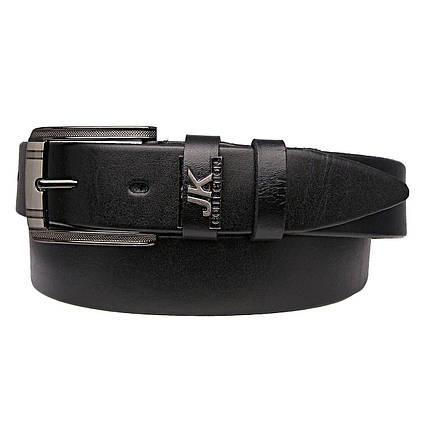 Натуральная кожаный мужской ремень JK Черный (MC351010108), фото 2