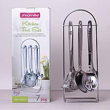 Набор кухонных принадлежностей Kamille 6 предметов в комплекте с подставкой, фото 2