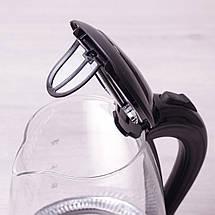 Чайник электрический Kamille 1.7л с синей LED подсветкой, фото 2