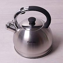 Чайник Kamille 2л из нержавеющей стали со свистком, фото 2