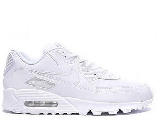 Кроссовки мужские Nike Air Max 90 Leather All White 44