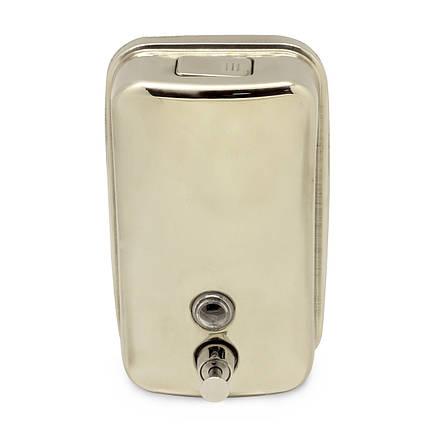 Дозатор для жидкого мыла металлический 1000мл, фото 2
