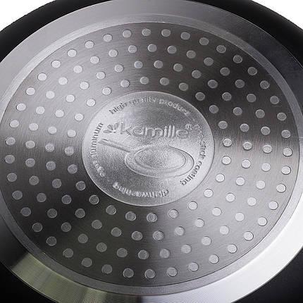 Сковорода Ø20*3.5см с мраморным покрытием из алюминия без крышки для индукции, фото 2