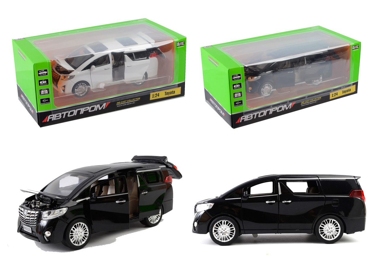 "Машина метал ""АВТОПРОМ""1:24 Toyota, 2 цвета, батар,свет,звук,двери откр.,в кор.29*15*11,5см /12-2/"