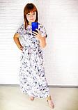 Легкое летнее длинное платье,размеры:50,52,54,56,58., фото 2