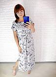 Легкое летнее длинное платье,размеры:50,52,54,56,58., фото 4