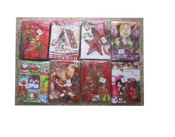 Пакеты подарочные ламинированные, 12,5*17*5,5 cm,  6-8 дизайнов (Новый год) микс.