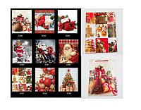 Пакет средний подарочный новогодний ламинированный,23*30*8 cm, 6-8 дизайн.