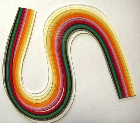 Бумага для квиллинга с инструментом  (5мм, 52 см, 150 пол., цвета микс).