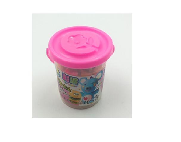 """Набор детский для лепки пластилином """"Ведерко'' (7,5*6,5*7 см, 10 цветов, формочки для лепки)."""