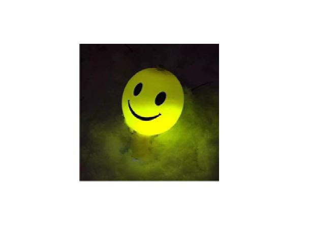 """Светящиеся шарики ( 4 шт\уп., рисунок """"Смайлик'')."""