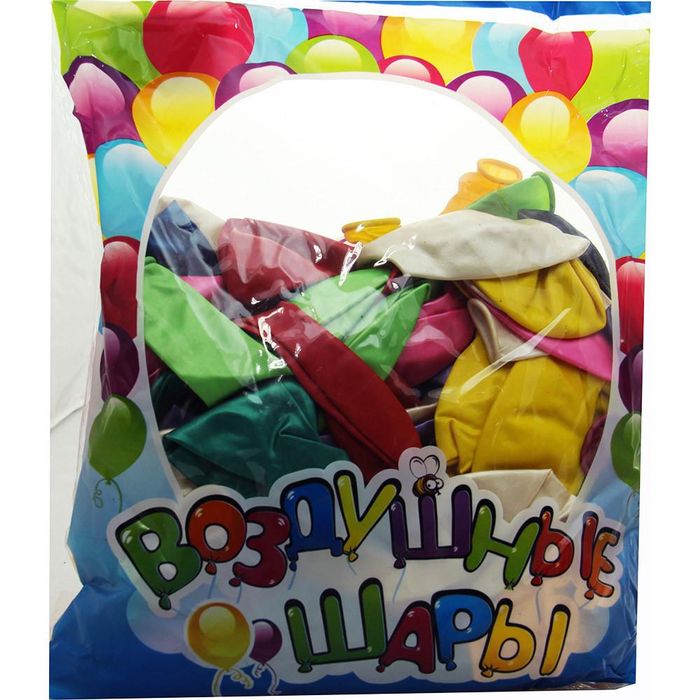 Шарики надувные цветные перламутровые 12 дюймов(2,8 грамм) 100 шт/уп, 8 цветов микс/уп.