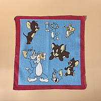 """Детский носовой платок """"Том и Джерри"""" (ситец)"""