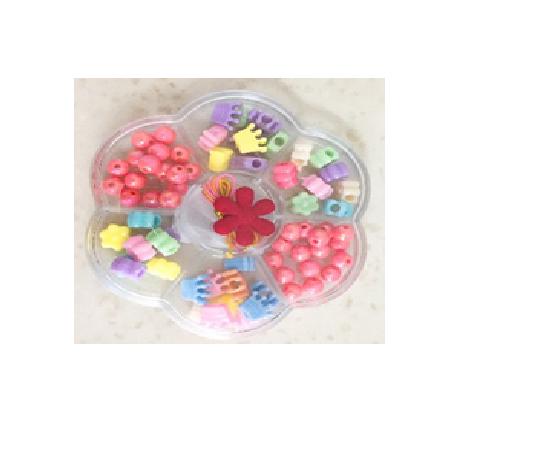 Набор детский для плетения из бисера ''цветок''  в пластиковой коробке.
