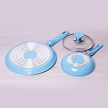 Набор Kamille из блинной сковороды 22см и маленькой сковороды 14см с антипригарным покрытием, фото 3
