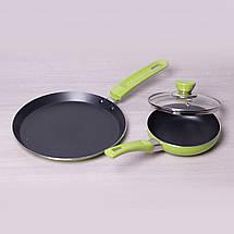 Набор Kamille из блинной сковороды 22см и маленькой сковороды 14см с антипригарным покрытием, фото 2