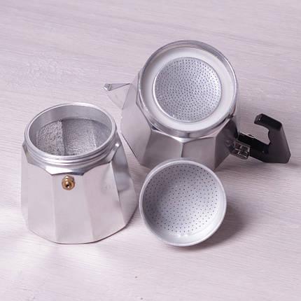 Кофеварка гейзерная Kamille 450мл из алюминия, фото 2
