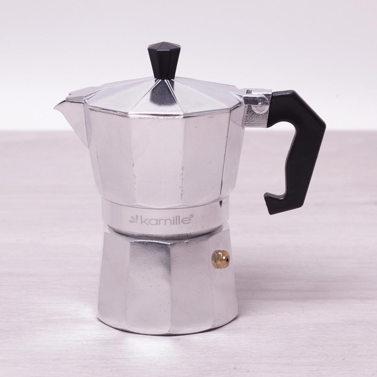 Кофеварка гейзерная Kamille 150мл из алюминия