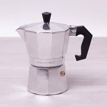 Кофеварка гейзерная Kamille 150мл из алюминия, фото 2