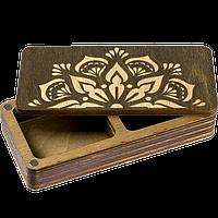 Деревянная мусорничка-шкатулка для обрезков нитей FLZB(N)-001
