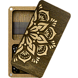 Дерев'яна мусорничка-скринька для обрізків ниток FLZB(N)-001, фото 4