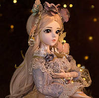 Кукла шарнирная BJD Ванесса 60 см, масштаб 1/3 , полный набор одежды, обувь и аксессуары