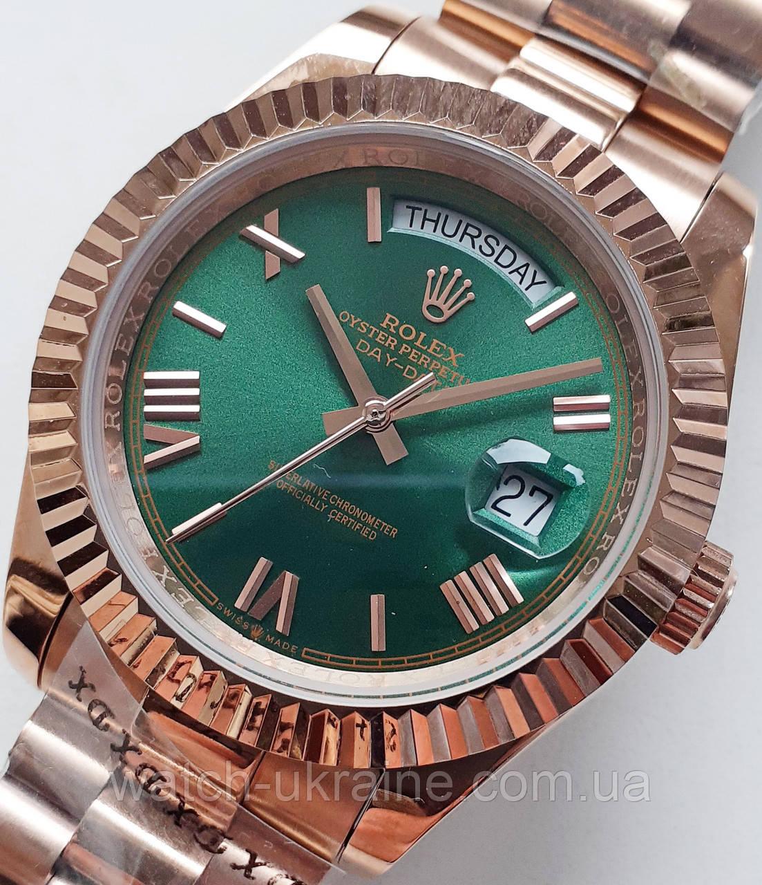 """Часы Rolex *day-date"""" green.класс ААА"""