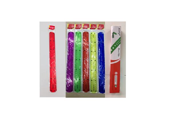Линейка пластиковая силиконовая ''Гнущаяся'' цветная 15 см  (цвета микс) .