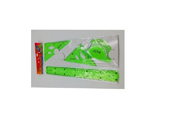 Набор линеек пластиково-силиконовых ''Гнущихся'' цветные (30 см) .