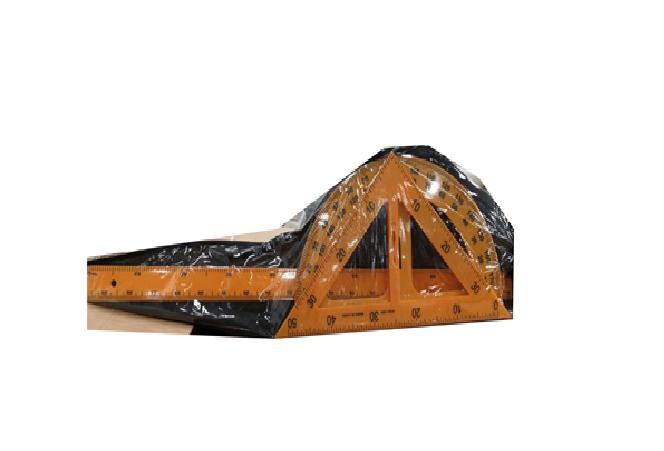Набор геометрический ''классный'' 3 предмета в чехле(Линейка 50 см, угольник, транспортир,чехол).
