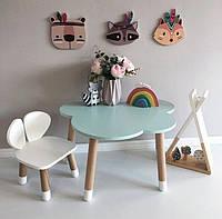 Детский деревянный набор стол и стульчик. 100% дерево массив бук