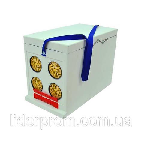 Ящик полістирольний Дадан для транспортування бджіл 6-рамковий, нефарбованийLYSON Польща, фото 2