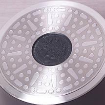 """Ковш Kamille 1.2л из литого алюминия с крышкой и антипригарным покрытием """"мрамор"""" для индукции, фото 2"""