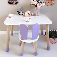 Детский деревянный комплект. Деревянный стол и стульчик. 100% дерево массив бук
