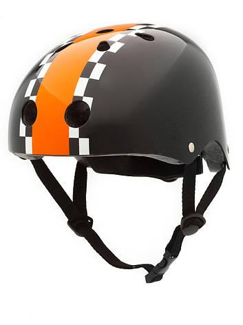 Велосипедный шлем Trybike 47 53см черный с оранжевым (COCO 5S), фото 2