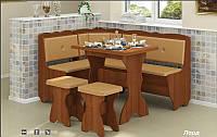 Кухонный уголок Лорд+стол раскладной + 2 табурета, фото 1