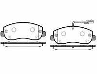 Колодки тормозные дисковые передние, комплект Remsa 144901