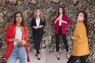 Женский пиджак с карманами /разные цвета, 42-50, LL-012/