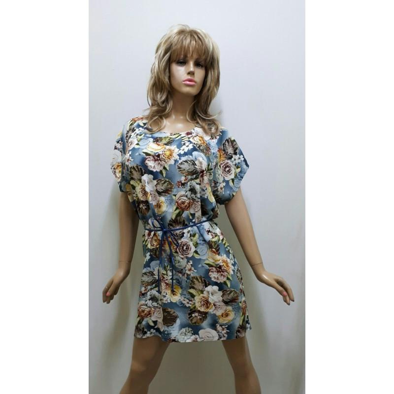 Платье-туника штапель, размер от 50 до 58