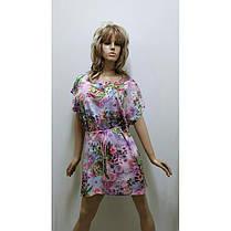Платье-туника штапель, размер от 50 до 58, фото 2