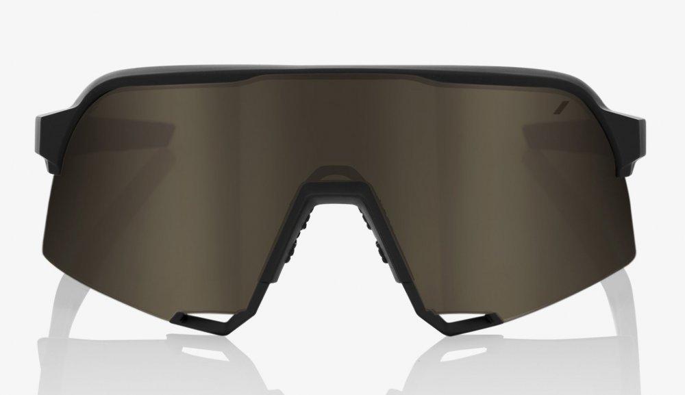 Велосипедные очки Ride 100% S3 - Soft Tact Black - Soft Gold Lens, Colored Lens