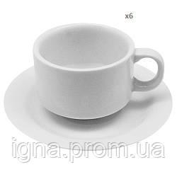 Чайный сервиз фарфоровый 12пр/наб 150мл WS31 (8наб)