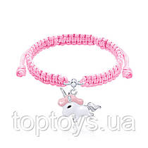 Браслет плетений UMa UMi Єдиноріг рожевий (419542400611)