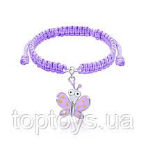 Браслет плетений UMa UMi Метелик фіолетовий з очима (419543000613)